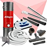 allegro central vacuum mu4100 3000 sq ft unit and 30 ft hose and powerhead kit