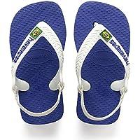 Havaianas, Sandálias New Baby Brasil Logo, Azul Naval, Tamanho 22 BR
