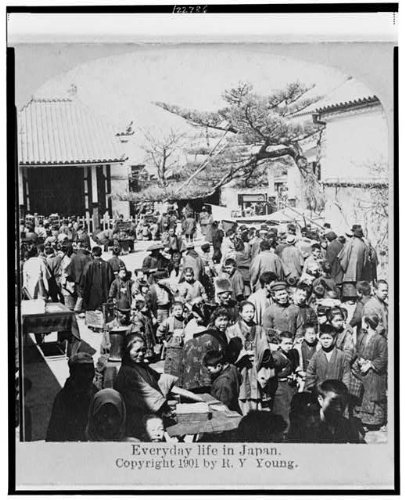 Photo: Everyday Life in Japan,Crowded Street Scene,People,c1901