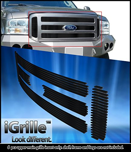 Black Stainless Steel eGrille Billet Grille Grill For 05-07 Ford F250/F350/Excursion - Excursion Billet Grill