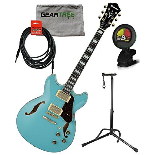 Ibanez Artcore Series AS73G Semi-Hollow Body Electric Guitar Mint Blue (Blues Hollow Body Guitar)