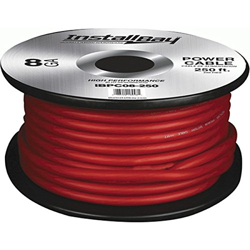 Price comparison product image Install Bay IBPC08R-250 8 Gauge Red Speaker Wire