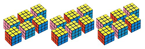 3 Set of 6 Amscan Party Favors Puzzle Mini Cube bundled by M