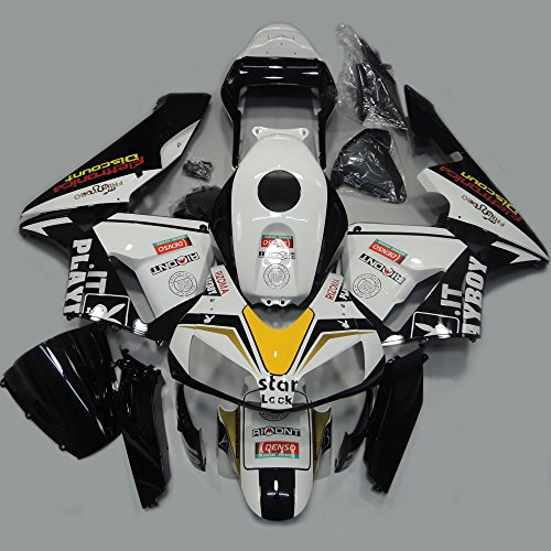 ABS Injection Molding - Playboy Edition Painted with Graphic Fairings for (2003-2004) HONDA CBR 600RR F5