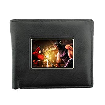 Black Bifold Leather Material Wallet Ninja Design-003 at ...