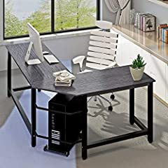 More Stable              There are some cheaper L-shaped corner desks on amazon. I bought a few samples, the steel is very thin, and especially unstable.When you move your body, It begins to shake. All in all, very cheap and b...