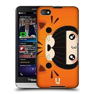 Head Case Designs Orange Tiger Felt Costume Play Protective Snap-on Hard Back Case Cover for BlackBerry Z30