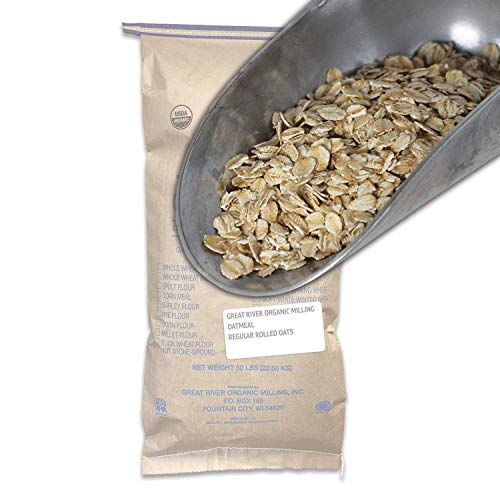 Great River Organic Milling, Oatmeal, Regular Rolled Oats,