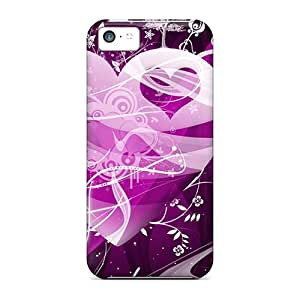 LINMM58281LastMemory Case For iphone 5/5s With Nice Purple Heart AppearanceMEIMEI