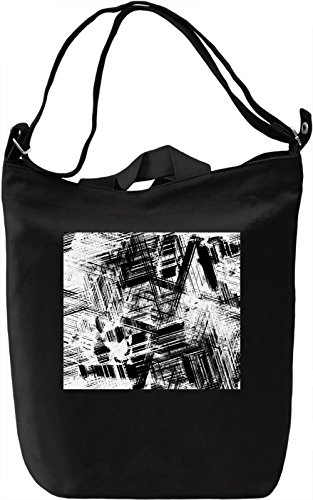 Black and White Texture Borsa Giornaliera Canvas Canvas Day Bag| 100% Premium Cotton Canvas| DTG Printing|