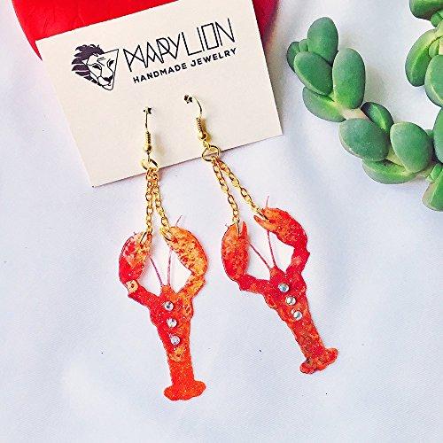 Lobster earrings - Animal earrings - Lobster jewellery - Shellfish jewelry - Gift for her - Trending jewelry - Fashion earrings