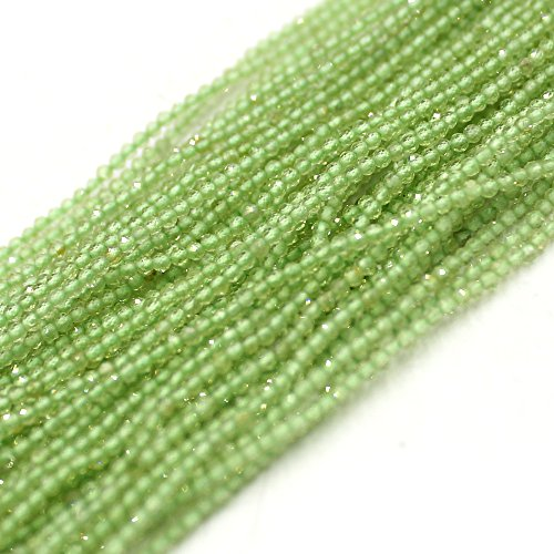 SR BGSJ Jewelry Making Natural 2mm Round Faceted Seed Green Peridot Gemstone Seed Beads Loose Spacer Craft Strand 15
