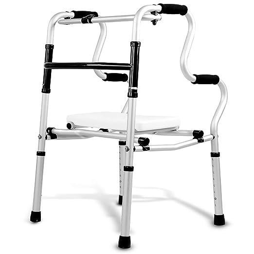 YSDHE Andador Anciano Puede Sentarse Andador Plegable ...