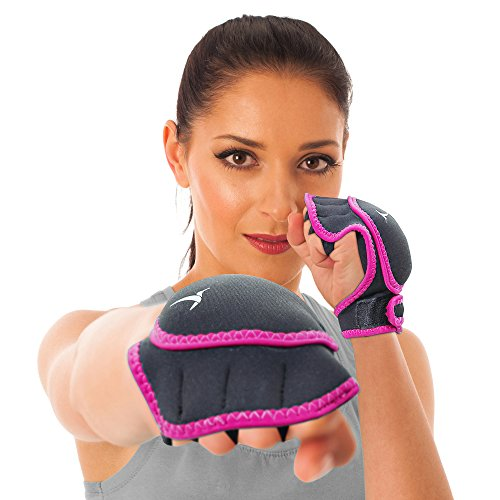 Empower Weighted Gloves for Women, Kickboxing, MMA, 2 Lb Set (1 Pound Each Glove), Berry