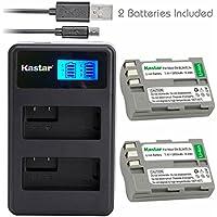 Kastar Battery (X2) & LCD Dual Slim Charger for Nikon EN-EL3e, ENEL3E, EN-EL3a, EN-EL3, MH-18, MH-18a and Nikon D50, D70, D70s, D80, D90, D100, D200, D300, D300S, D700 Cameras