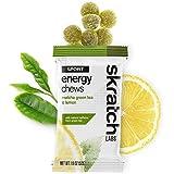 Skratch Labs: NEW Sport Energy Chews, Matcha Green Tea & Lemons, 10-pack single serving box (vegan, dairy free, gluten free, delicious)
