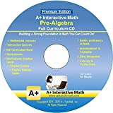 Pre-Algebra (7th or 8th Grade) Math Full Curriculum Software Program - Premium Edition (Windows PC - Video Lessons, Interactive Review, Worksheets, Tests, Grading N Tracking)