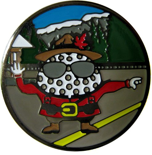 Canadian Mountie Be The Ball Character Golf Ball Marker with Matching Hat Clip (Hat Mountie Hat)
