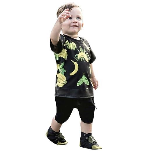 d76fb23e2078 Amazon.com  Toddler Baby Boy Summer Outfits Clothes 2 Pcs Set