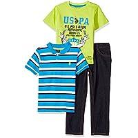 U.S. Polo Assn. Boys' Polo, T-Shirt Pant Set