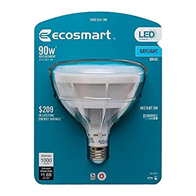 Ecosmart 90W Equivalent Daylight 5000K BR40 Dimmable LED Light Bulb