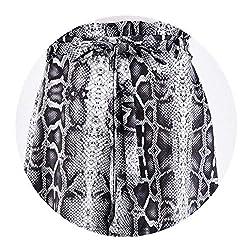 Northesther Snake Skin Print High Waist Summer Shorts Women Fashion Drawstring Loose Sexy Short Ladies Shorts As Shown M