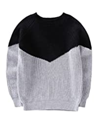 MFrannie Boys Autumn Contrasted Little Gentlemen Knitting Sweater