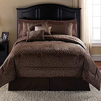 Amazon Com 7 Piece Dark Brown Safari Animal Pattern