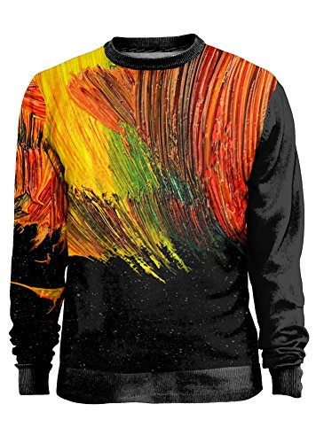 Blowhammer - Sweatshirt Herren- MadPainter - Grunge Arte Pittura Pennellata Colorata Größe - x-small