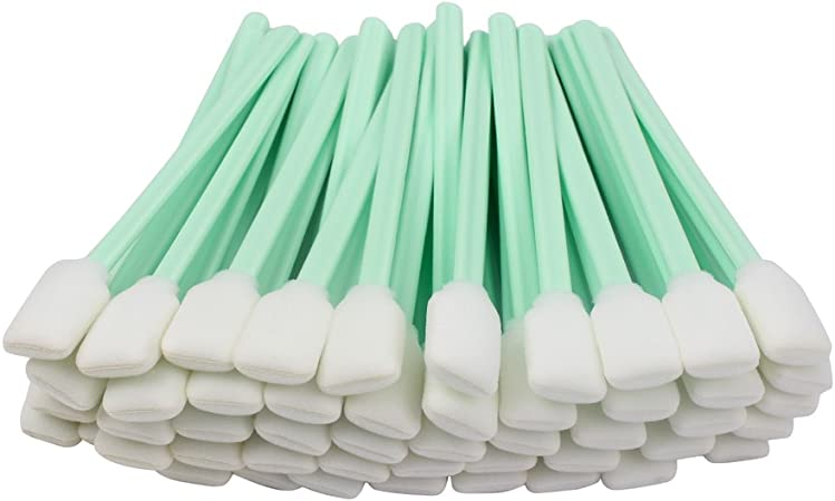 LOVEDAY 100 piezas 12,9 cm Espuma de limpieza Varillas de hisopos para impresora de inyección de tinta de formato de disolvente.: Amazon.es: Oficina y papelería