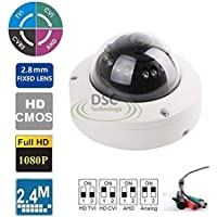 4-in-1 HD 2.8mm Wide Angle Lens 1080P 2.4MP 12IR Waterproof IP66 Camera