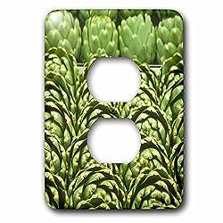 Danita Delimont - Markets - Rows of green artichokes, Vegetables - LI11 JMI0001 - Janis Miglavs - Light Switch Covers - 2 plug outlet cover (lsp_83265_6)