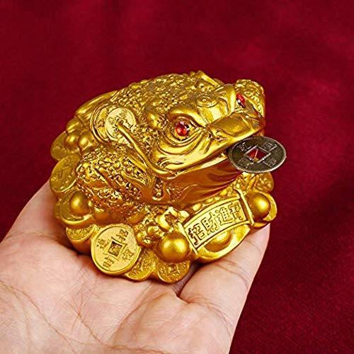 portatrice di fortuna e ricchezze decorazione feng shui WYMAODAN statuetta a forma di rana con moneta portafortuna in bocca