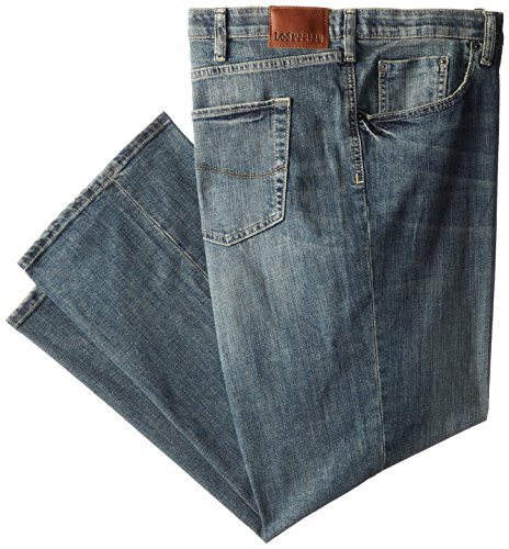 Lee Men's Big-Tall Modern Series Custom Fit Relaxed Straight Leg Jean, Santiago, 46W x 30L