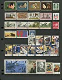 COMPLETE MINT SET OF POSTAGE STAMPS ISSUED IN THE YEAR 1973 BY THE U.S. POST OFFICE DEPT. (Total 37 Stamps)