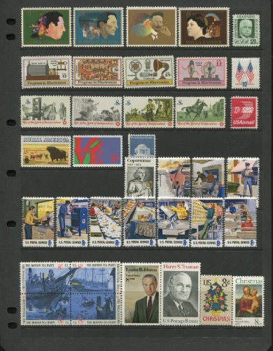 Complete Mint Set Of Postage Stamps Issued In The Year 1973 By The U S  Post Office Dept   Total 37 Stamps