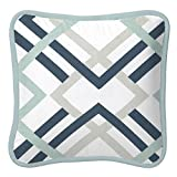Carousel Designs Navy and Gray Geometric Decorative Pillow Square