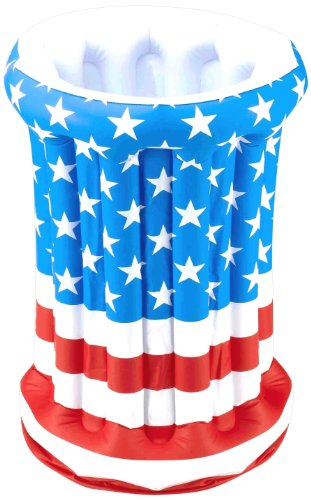 Us American Air - Forum Novelties July 4th Independence Day Stars Stripes American US Flag Patriotic Inflatable Drink Cooler
