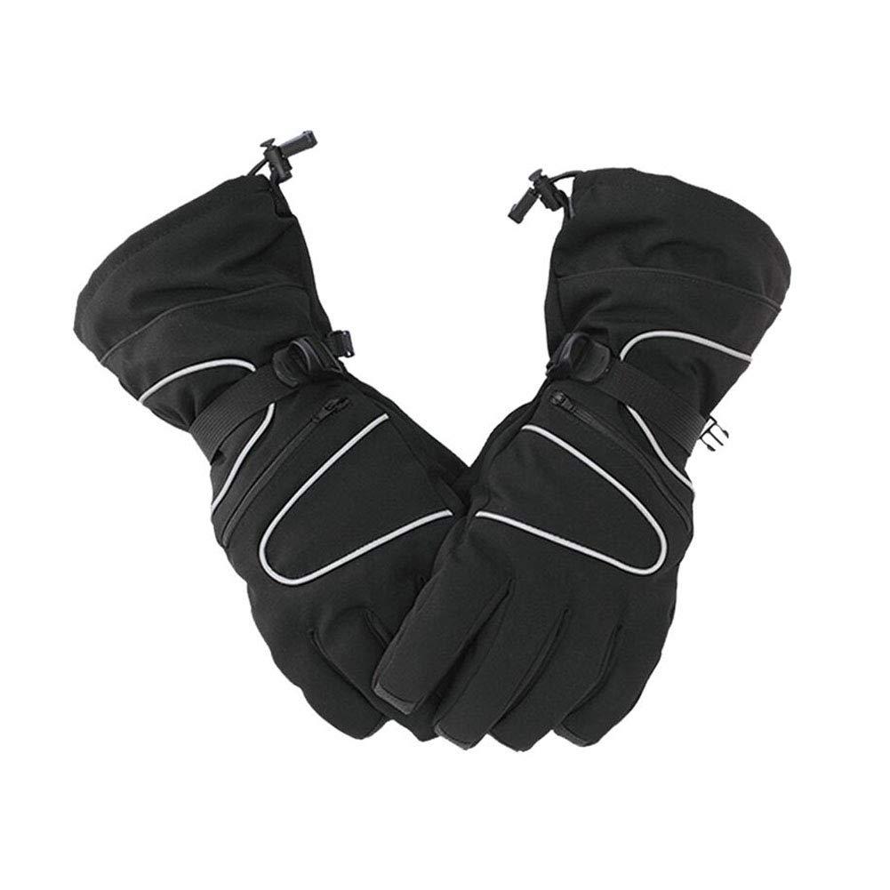 Dall Gloves Gloves Ski Thermal Gloves Men Warm Winter Snow Skiing Soft (Color : Black)