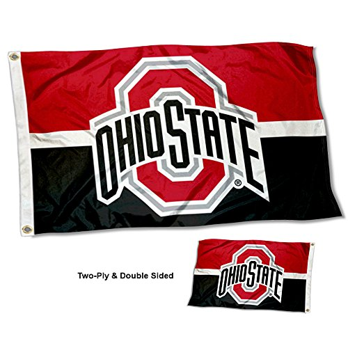College Flags and Banners Co. Ohio State Buckeyes Double Sided Flag