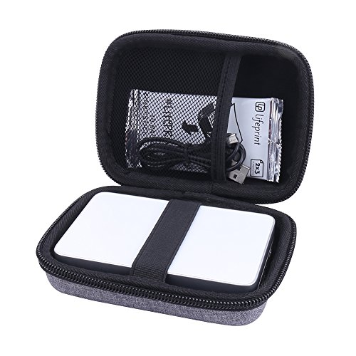 Aenllosi Hard Carrying Case for Fits Lifeprint 2x3 Portable Photo and Video Printer fits Zink Film Paper Pack (2x3, Grey)