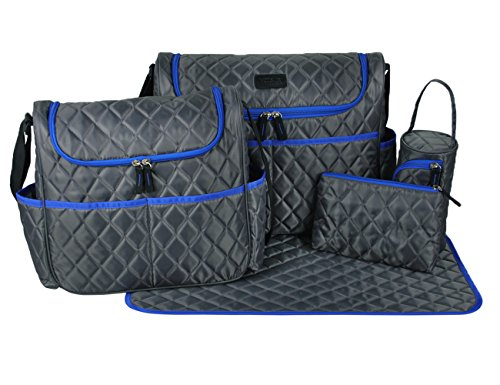 ECOSUSI 5 Pieces Set Baby Diaper Shoulder Messenger Bag