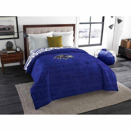 NFL Anthem Twin/Full Bedding Comforter Only, Baltimore Ravens by Northwest