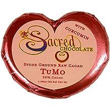 Sacred Chocolate TUMO Maple Sweetened, Stone-Ground, Organic Vegan RAW Chocolate 66% Cacao 1.44oz Bar (12 Pack)