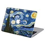 Customized Famous Painting Series Vincent Van Gogh Starry Night Special Design Water Resistant Hard Case for Macbook Air 13'' (Model A1369/a1466)