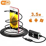 #7: Wireless Endoscope, TUSAZU 2 Megapixels HD Wifi USB Borescope, IP67 Waterproof Inspection Camera, Semi-rigid Flexible Snake Camera, for Android, iPhone, Samsung, Tablet, PC- 11.5 ft(3.5M)