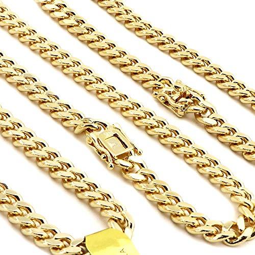 Plated Gold Bracelet Chain Heavy - Raonhazae 14k Gold Finish Heavy 14mm Miami Cuban Link Chain Necklace Bracelet Various Set (9