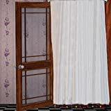Pair of Colorful PomPom White window sheer chiffon Curtains 40″ W X 84″H + 4″ Pocket Review