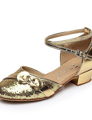 Non Chaussures Gros Shangyi Femmes De Or Argent Danse Or Salsa De Enfants Personnalisable Flocage Ventre Talon Latin Agqnxwqf