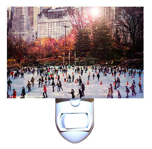 Christmas in New York Wollman Rink in Central Park Night Light -